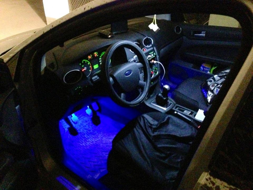 Подсветки ног в авто своими руками