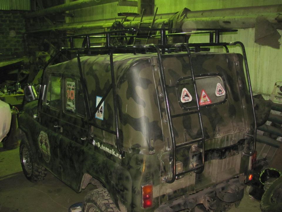 Багажник на уаз 469 тентованный