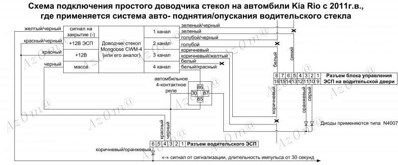 подключения мангуст доводчик схема