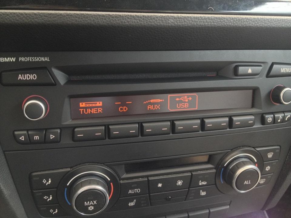 Дооснащение магнитолой Professional с Bluetooth и USB — BMW 3 series