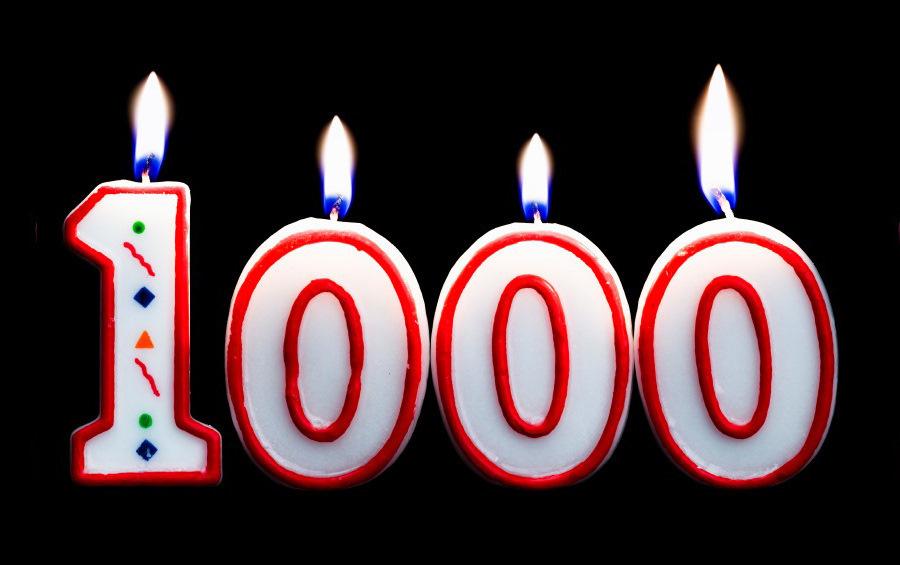 Скрапбукинг юбилеем, картинка с цифрой 1000