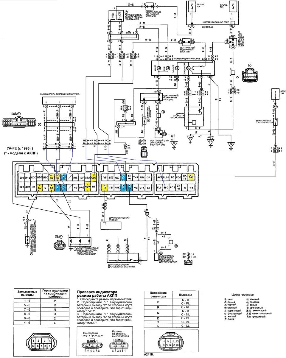 схема электропроводки toyota carib