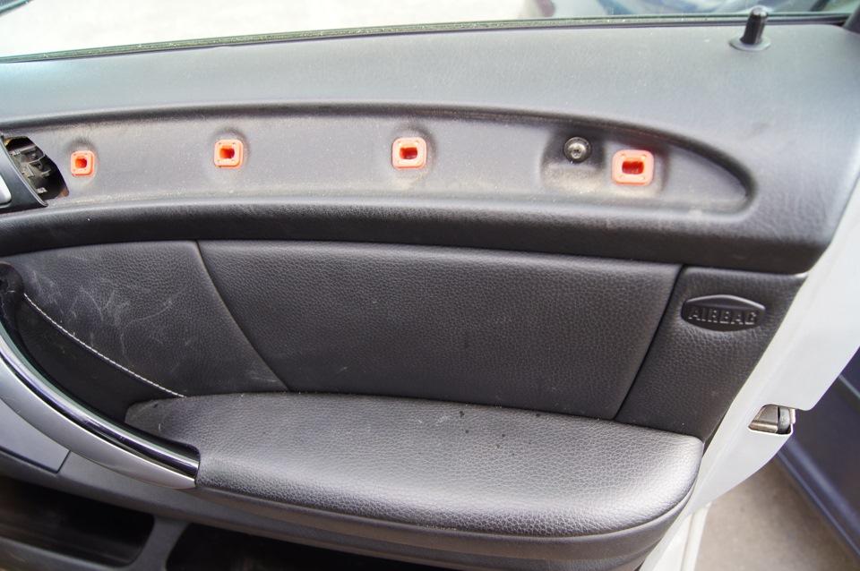 как снять обшивку двери BMW e60