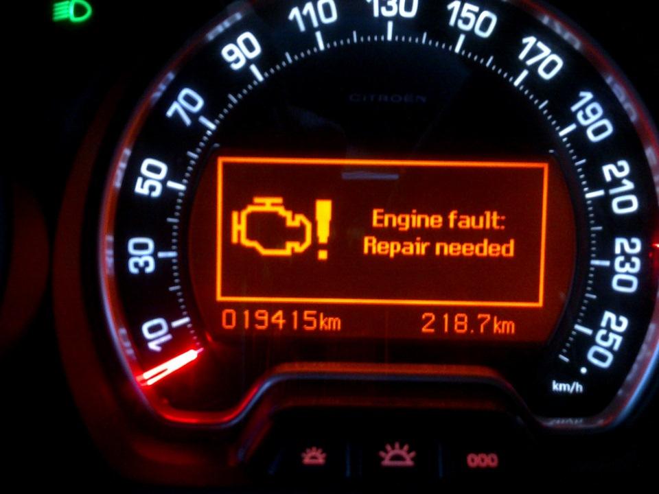 Engine fault repair needed пежо 308 что делать