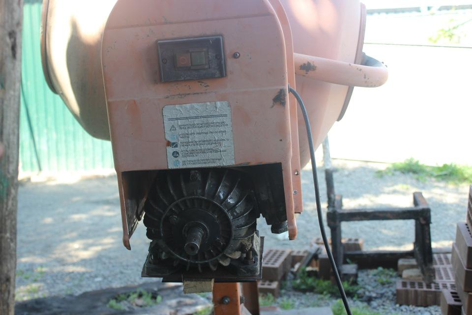 какой двигатель поставить на бетономешалку