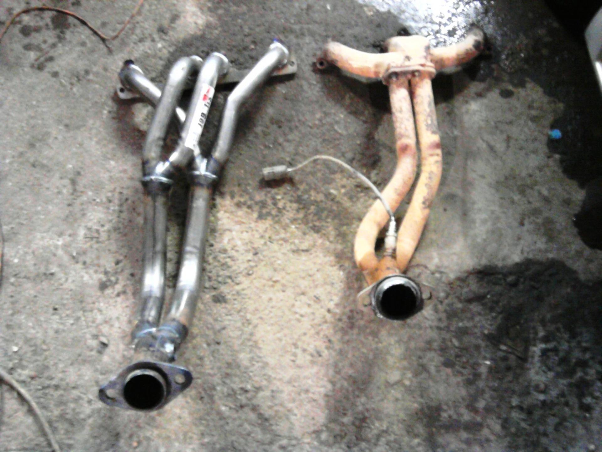 полная схема выхлопной трубы на приору