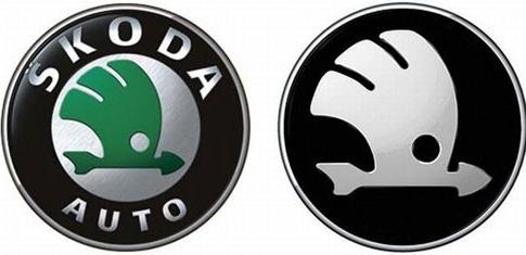 шрифт на логотипе skoda