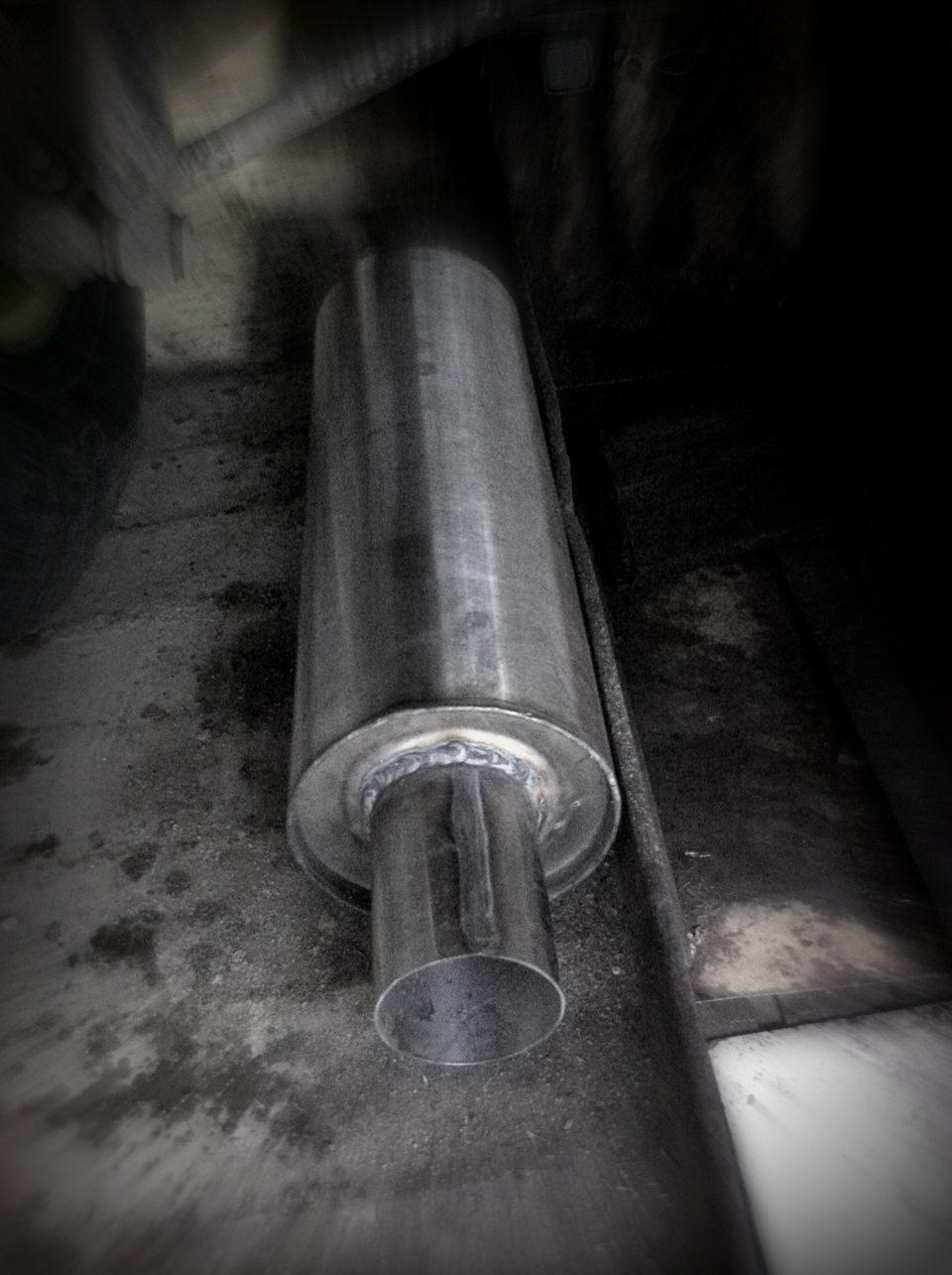 toyota rav4 переделка выхлопной трубы