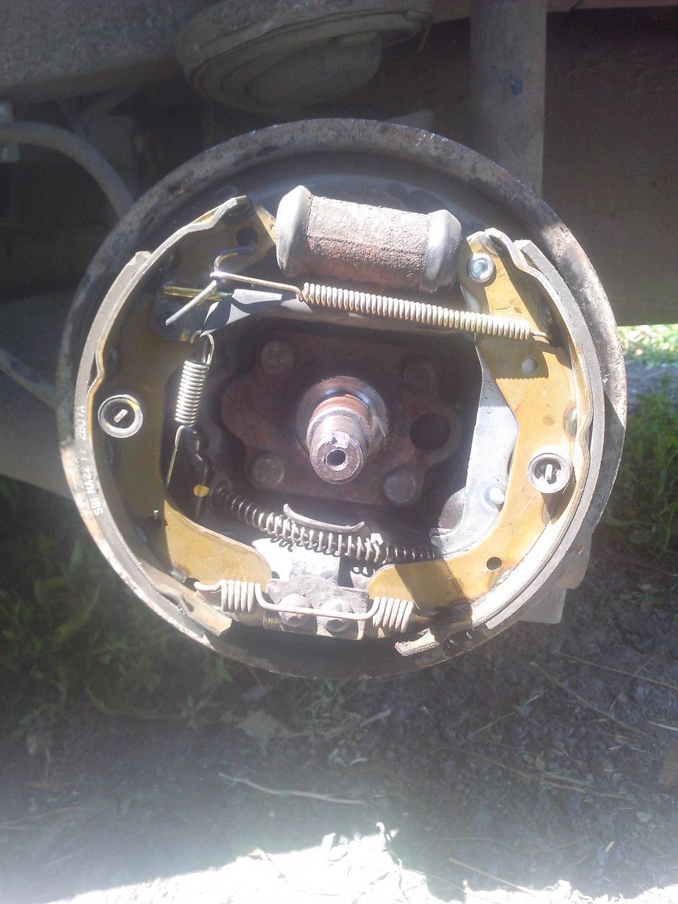 Ручной тормоз шевроле ланос схема