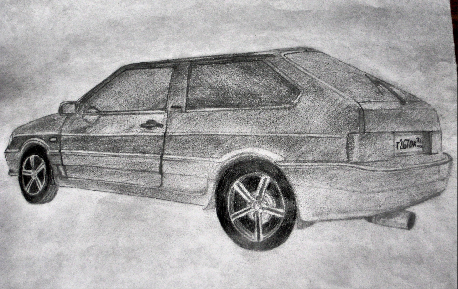 красивые рисунки русских машин