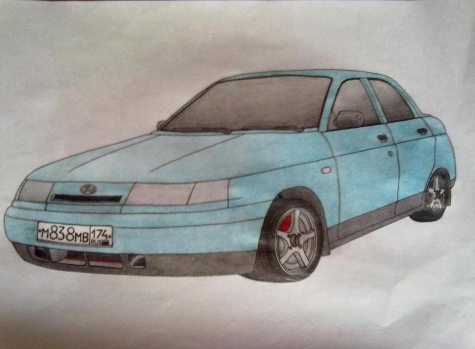 Картинки для срисовки машины лада