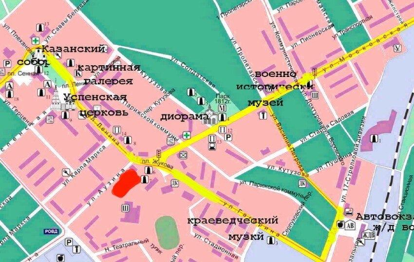 Схема проезда 12 июня