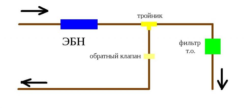 схема топливного подключения