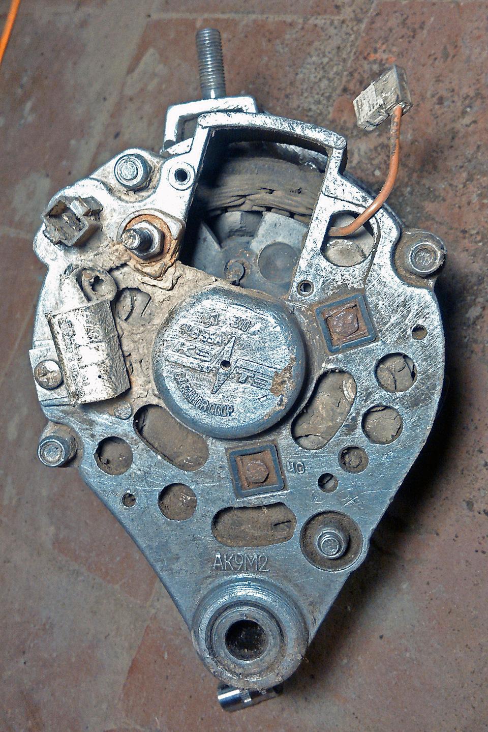 генератор 2109 перепутаны шайбы