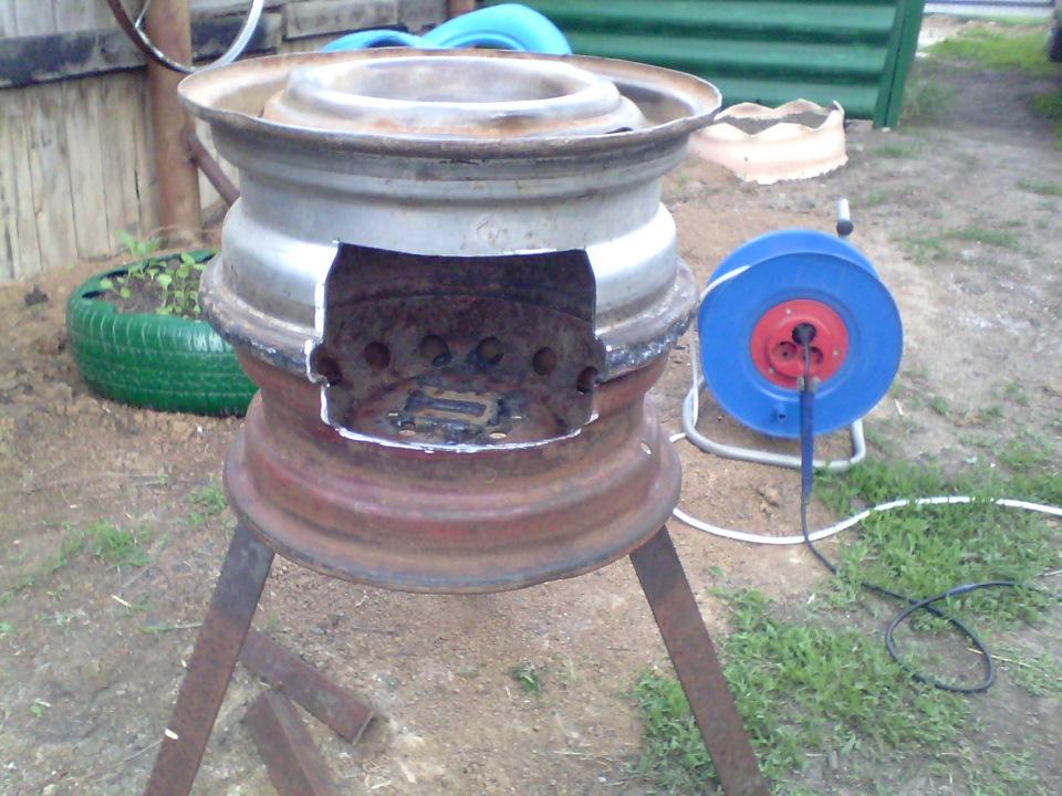 Как сделать мангал своими руками из колеса