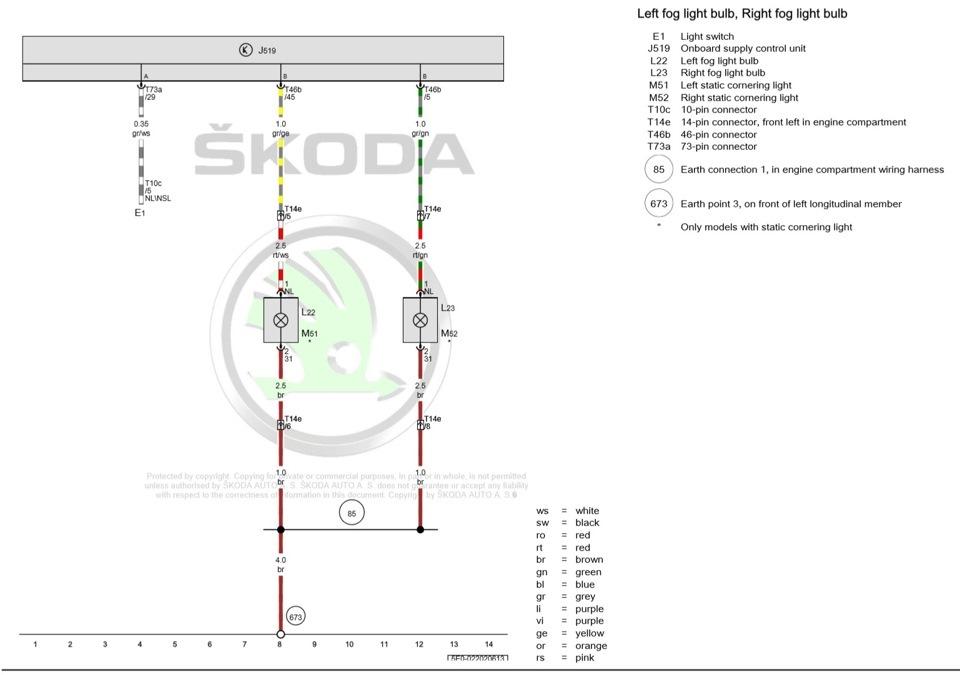 Схема skoda octavia a7