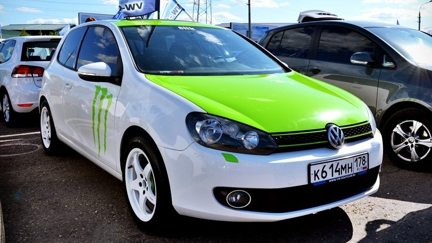 volkswagen golf 6 1 4 tsi white green drive2. Black Bedroom Furniture Sets. Home Design Ideas
