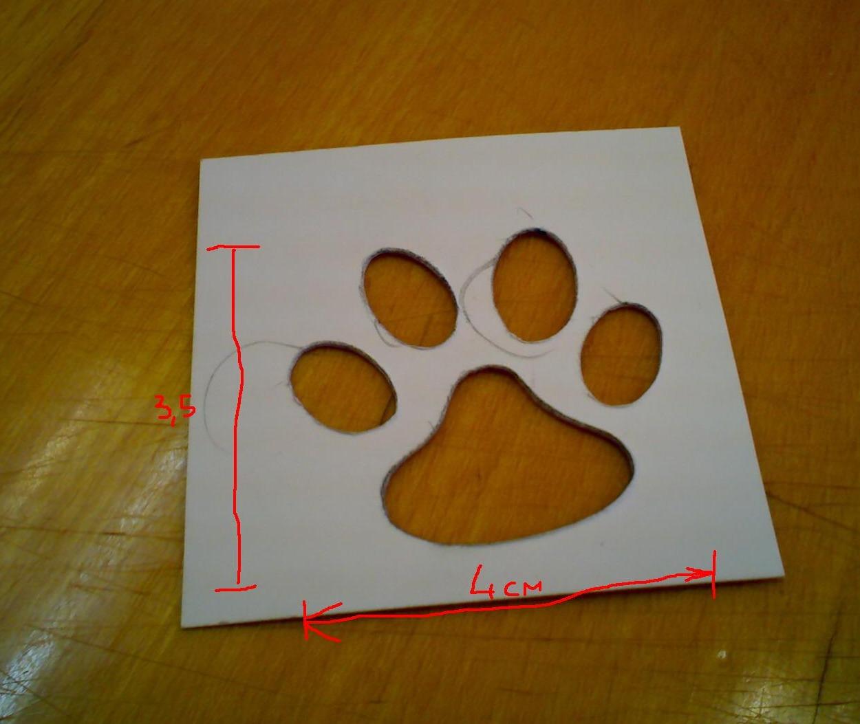 Сделать следы животных своими руками