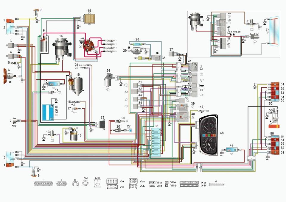 нормальная электросхема заз