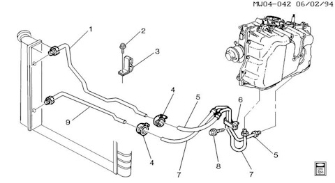 Замена трубки охлаждения акпп шевроле круз