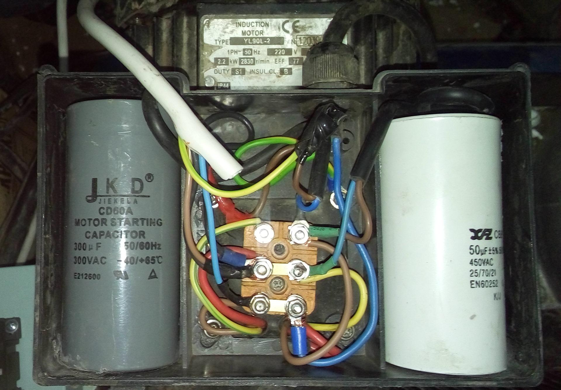 Подключение двигателя через конденсатор схема фото 53