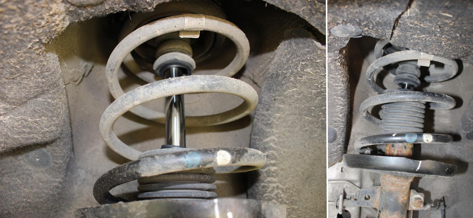 как заменить пыльник амортизатора переднего renault