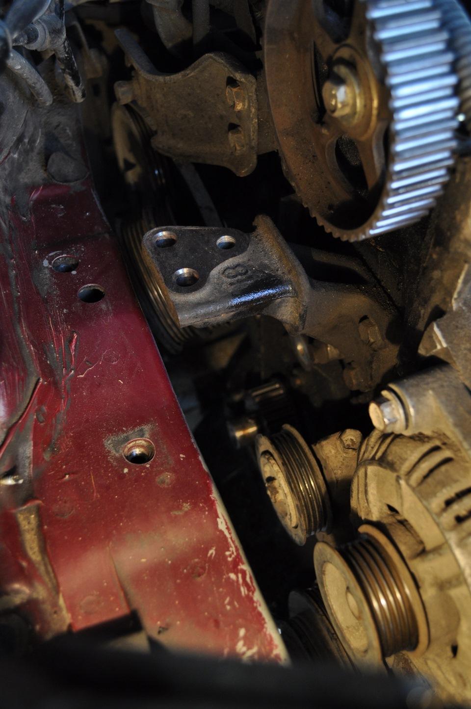 Toyota Карина замена ремня грм #10