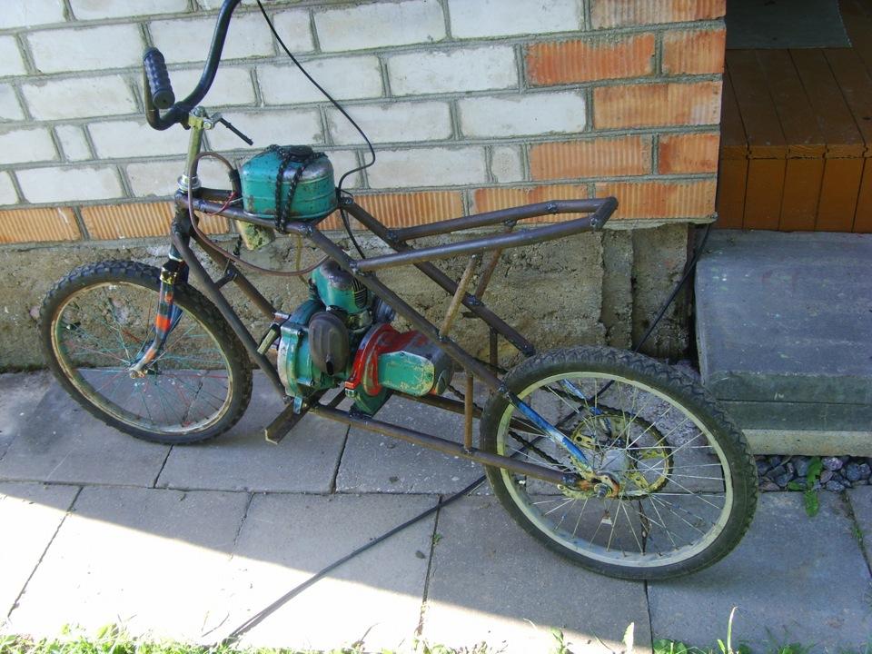 Сделать мопед из велосипеда в домашних условиях 676