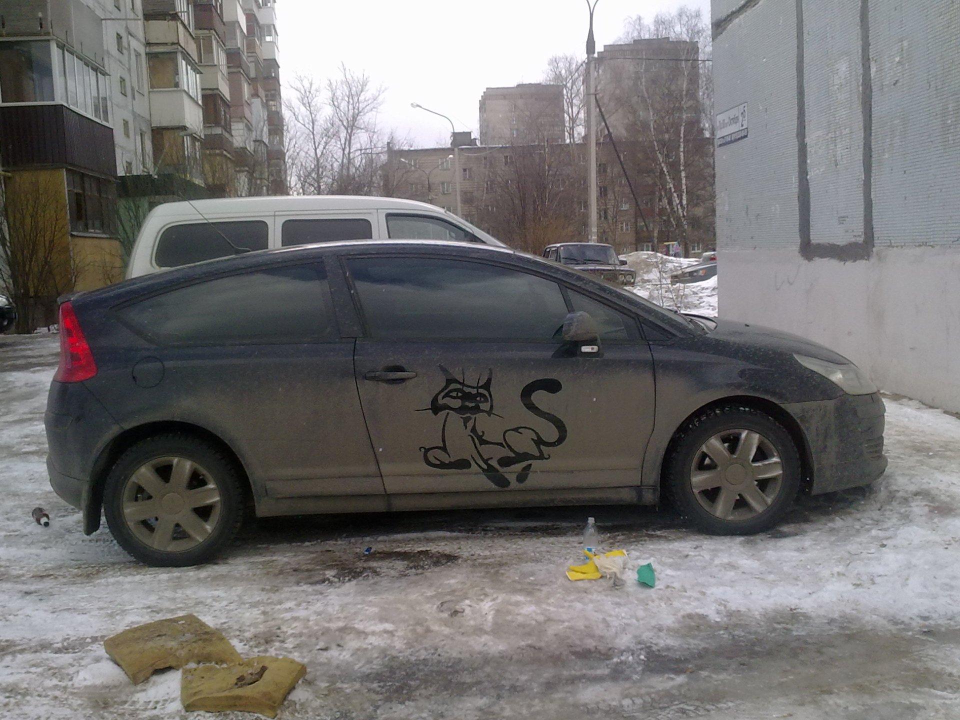 Рисунки на грязных машинах фото