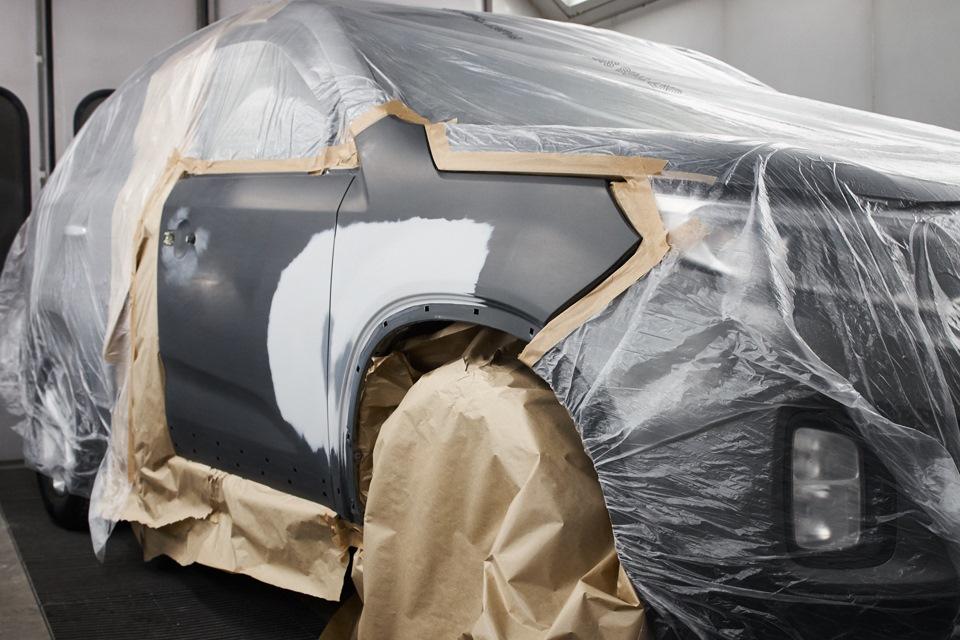 Переднее правое крыло и передняя правая дверь KIA Sorento полностью подготовленные к покраске с переходом