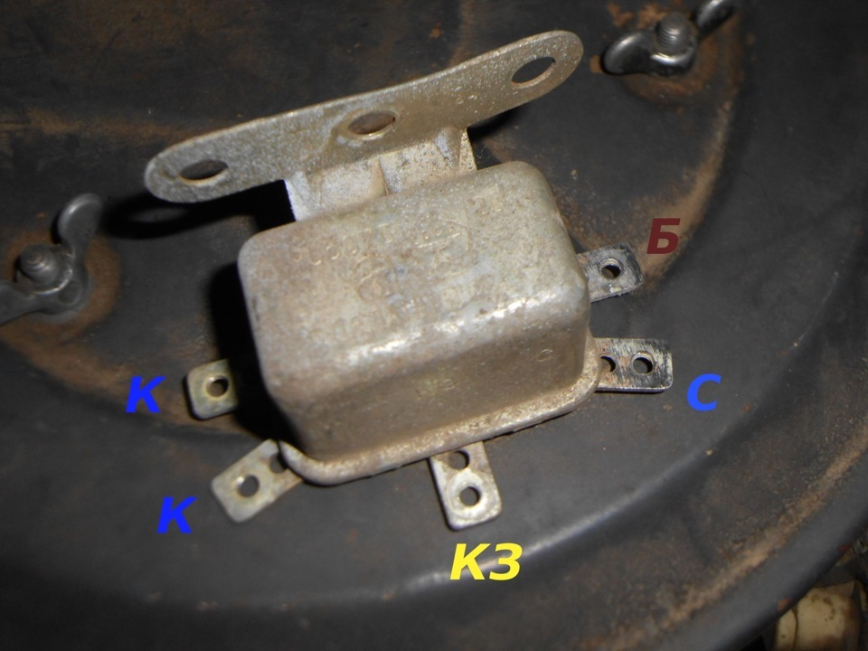 Схема подключения реле стартера рс-502