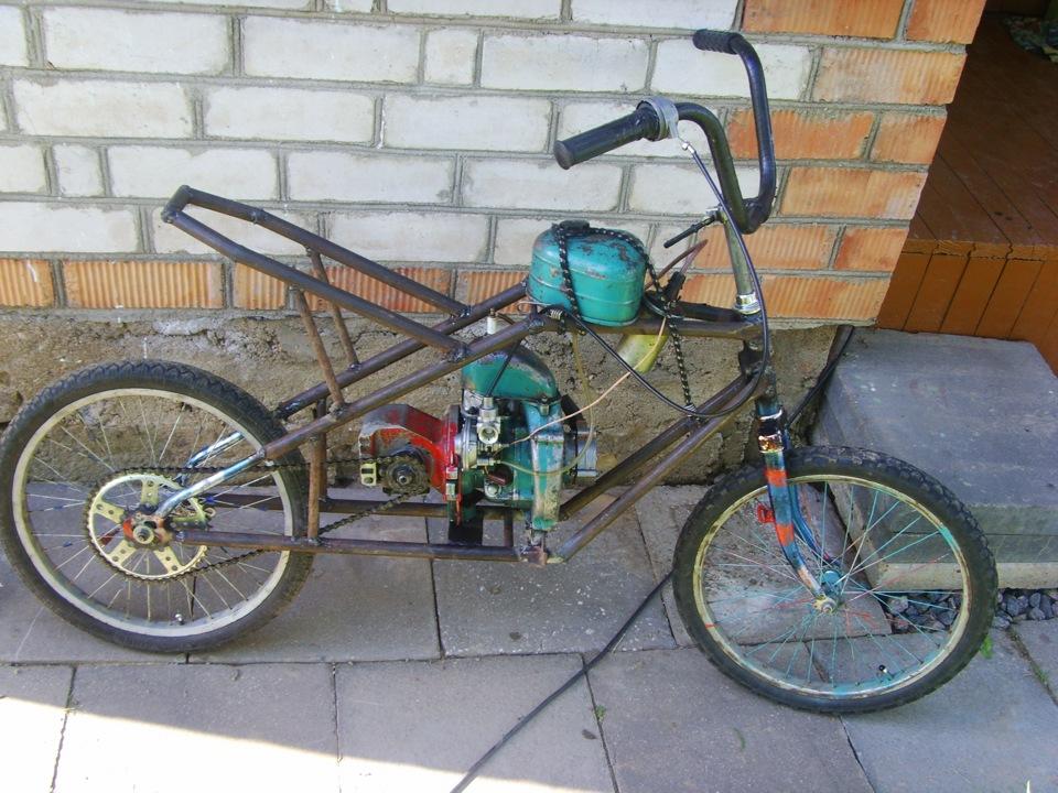 Сделать мопед из велосипеда в домашних условиях 515