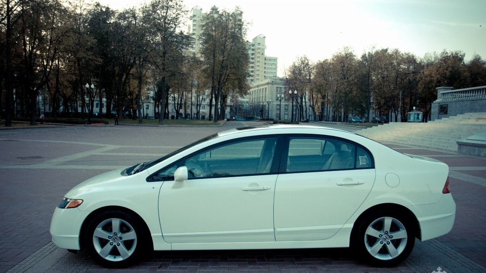 Хонда цивик белый фото