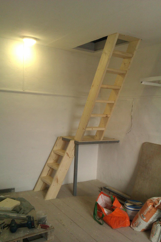 Как в гараже сделать лестницу на второй этаж своими руками из