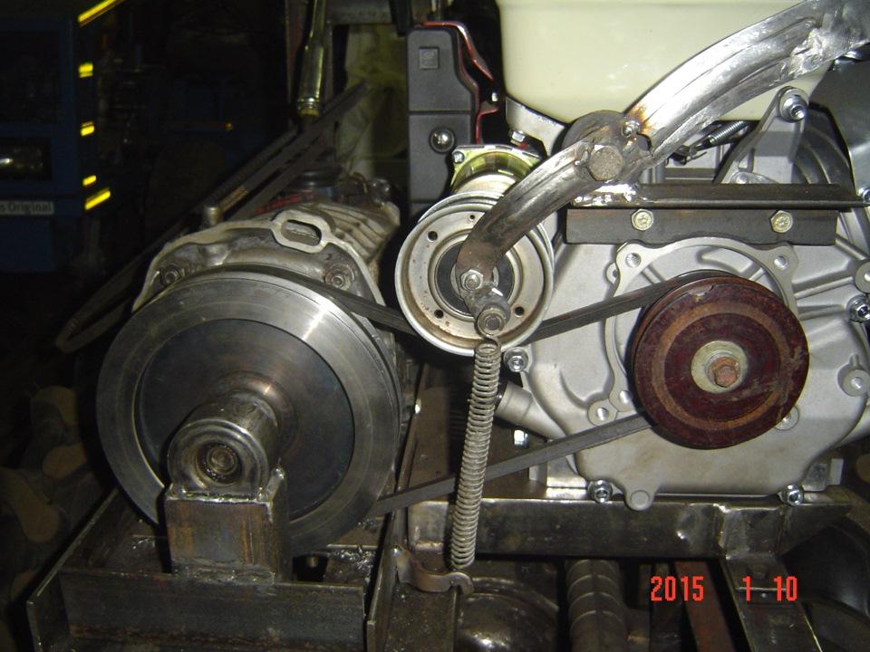 фото ременного сцепления для самодельного трактора франция