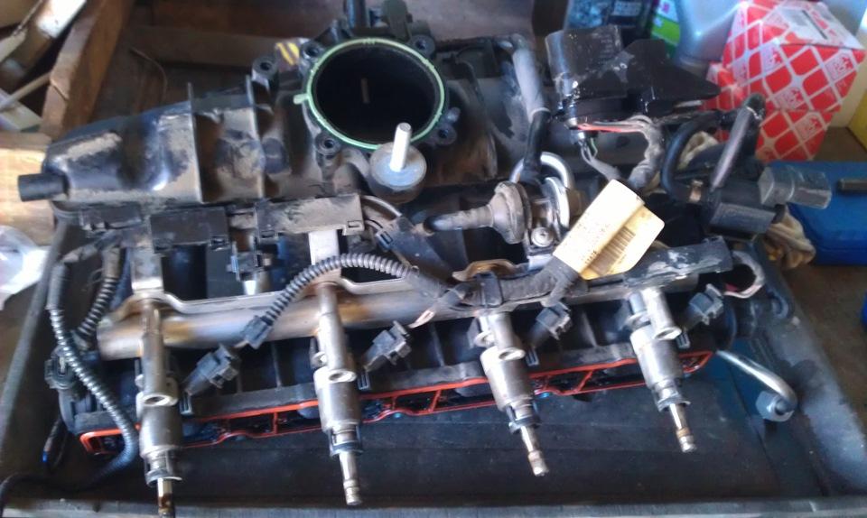 ремонт впускного коллектора на фольксвагене