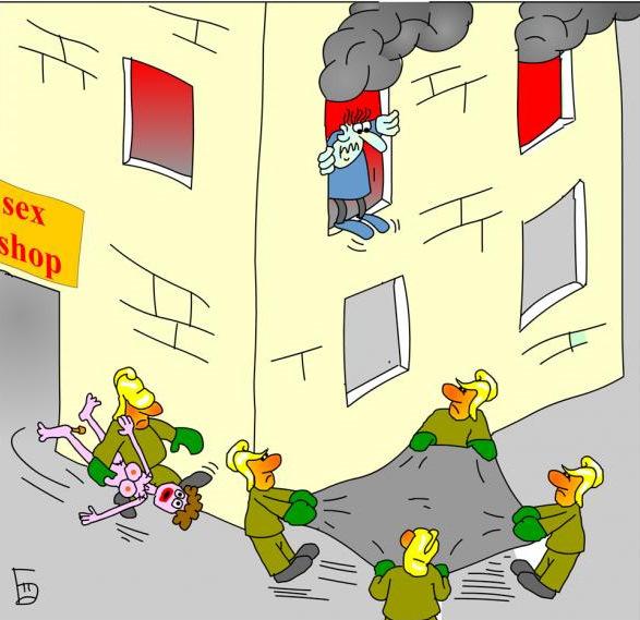 Смешные рисунки о пожаре