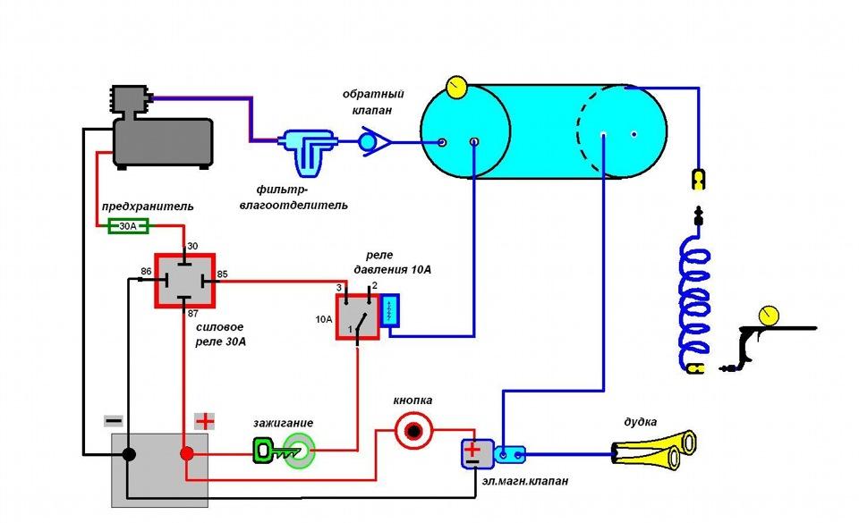 Реле давления компрессора схема подключения фото 837