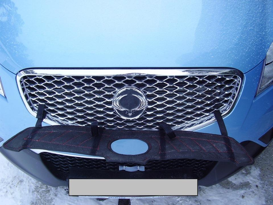 Окончательный вариант утеплителя решётки радиатора - бортжурнал SsangYong Actyon 2012 года на DRIVE2