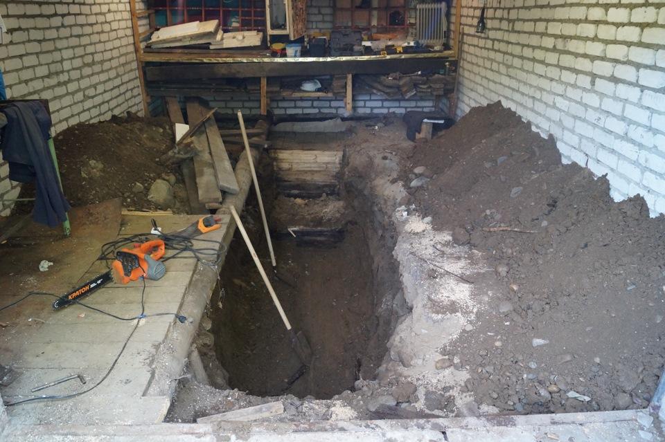 Как сделать смотровую яму в гараже от грунтовых вод 40