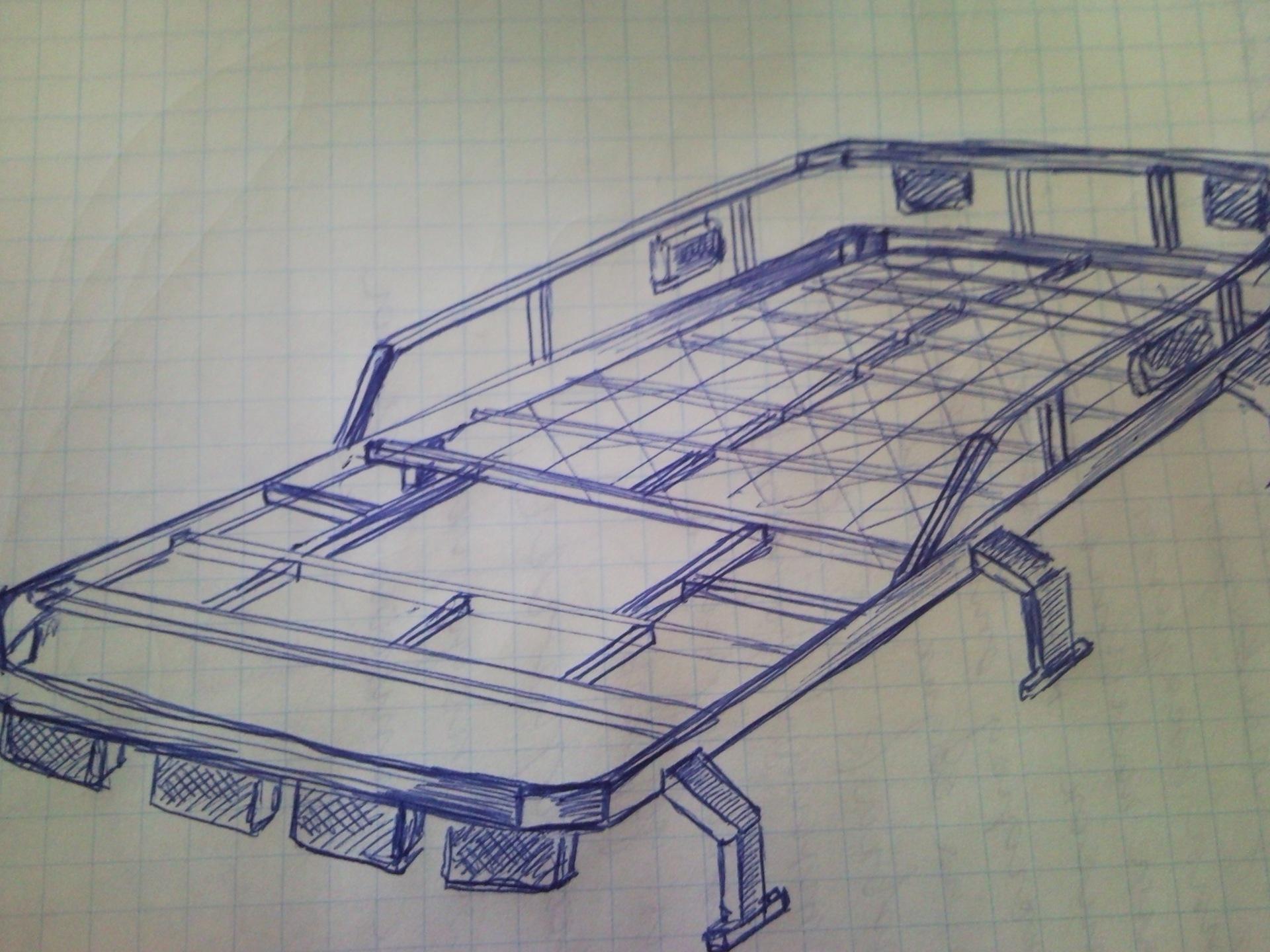 Багажник на уаз своими руками чертеж 773