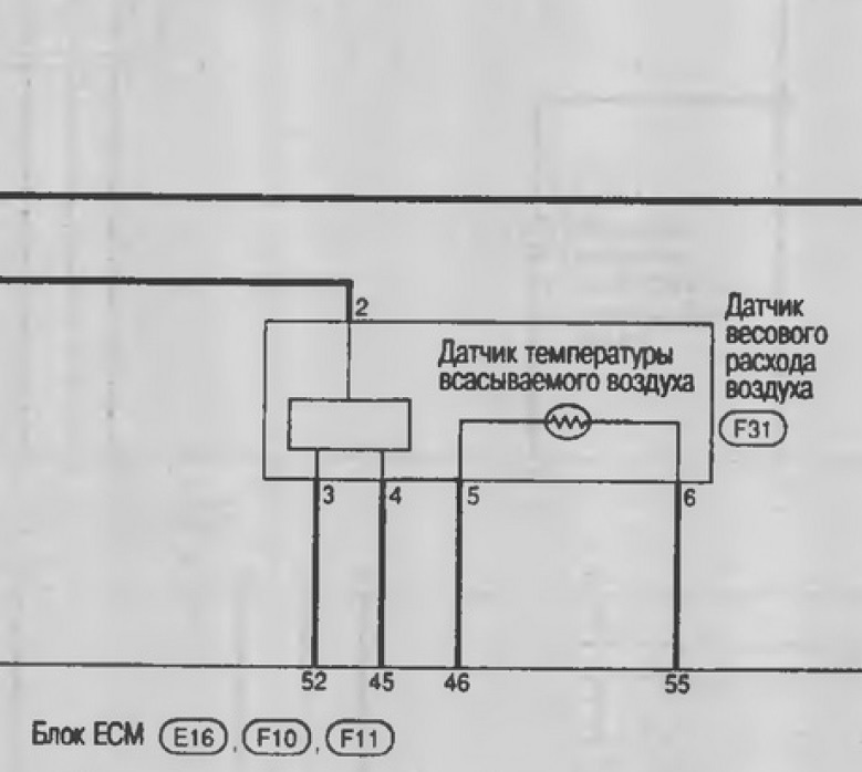 Схема подключения ДМРВ