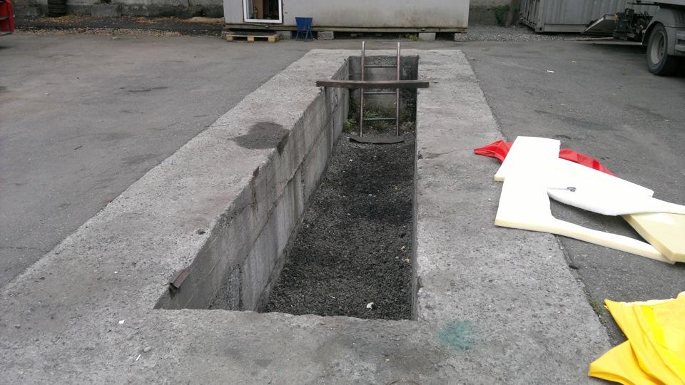 Как сделать яму для сход Cтолбы для забора из профнастила Дачные дела