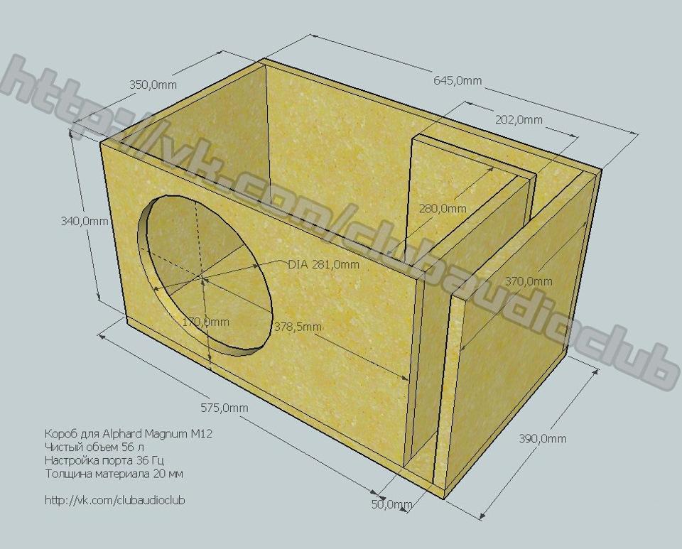 Короб под саб 12