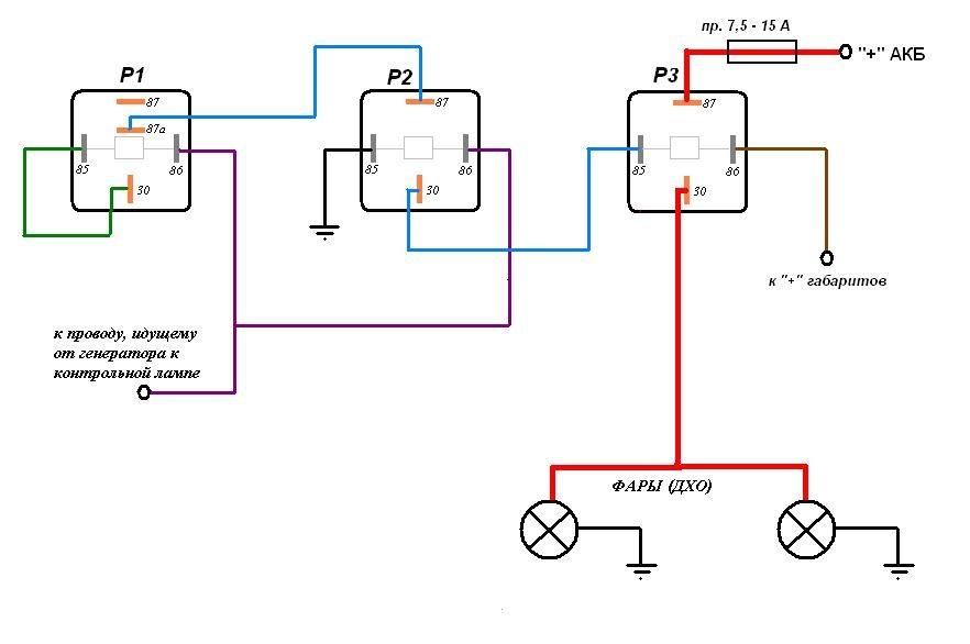Электрическая схема воздух отопитель ваз 2105.  Тензодатчики схемы включения.