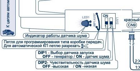 Как подключить сигнализацию шерхан