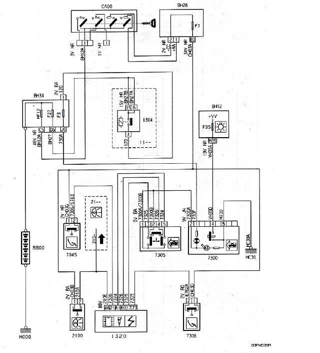 Схема bsi пежо 406 819