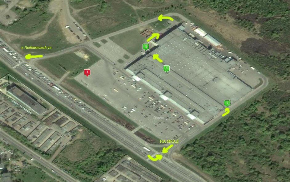 схема парковки и мест