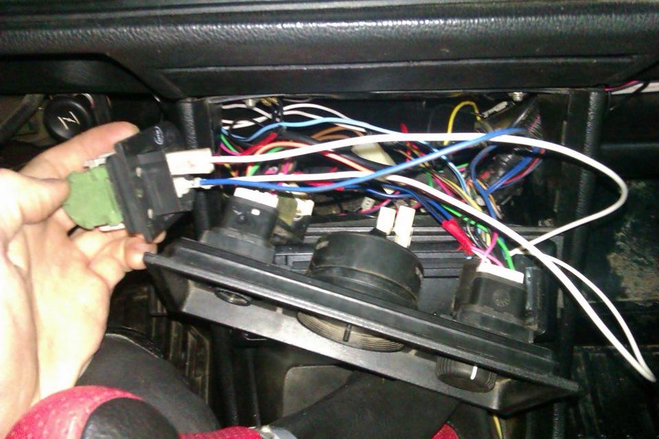 резистор печки подключил