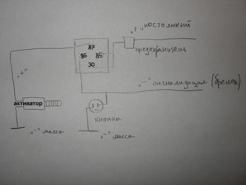 Подключение электропривода багажника к сигнализации.  ДХО.